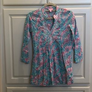 Lilly Pulitzer beaded lobster tunic.